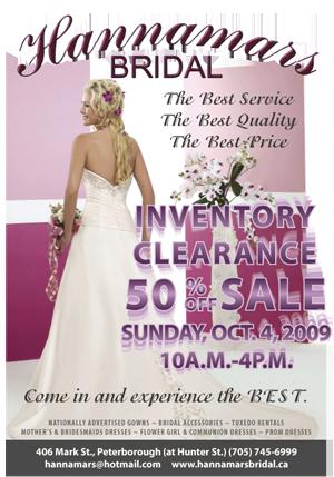 Hannimars Bridal Peterborough Sale