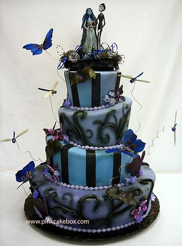 Halloween Themed Wedding Cake