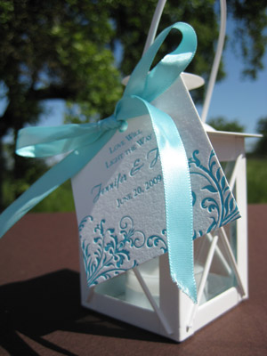 You can give away small lanterns as wedding favors Wedding Decor Lanterns