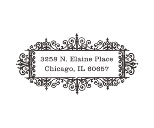 Rubber Stamps, Antique style, wedding invitations