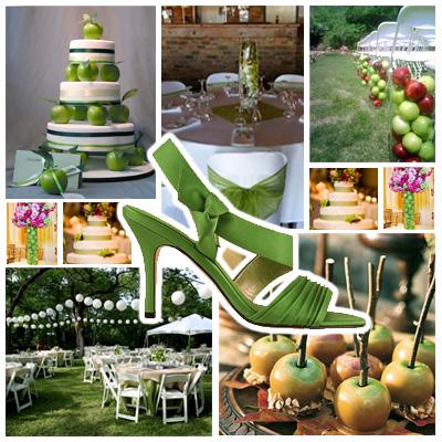Green apple theme wedding