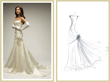 mydreamlines.com, sketched wedding gown