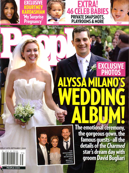 Alyssa Milano Wedding Photo