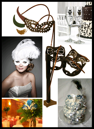Masquerade Ball Wedding Theme
