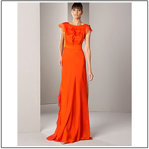 orange wedding dress
