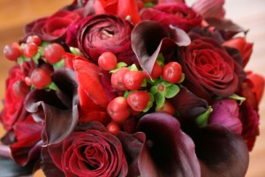 Red Fall Wedding Bouquet