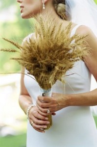 wheat bridal bouquet