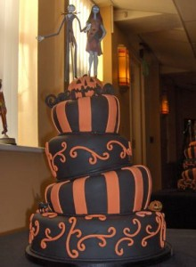 Wonky Halloween Wedding Cake