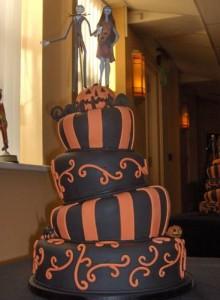 Wonky Halloween Wedding Cake