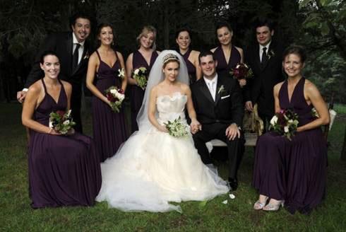 Alyssa Milano Bridesmaids' dresses, Two Bird Bridesmaid