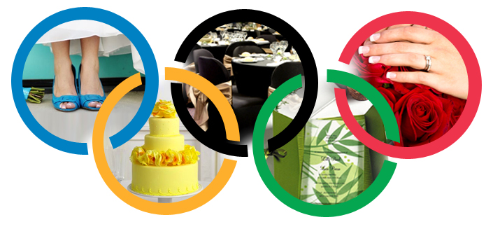 Olympic Rings Wedding Colors