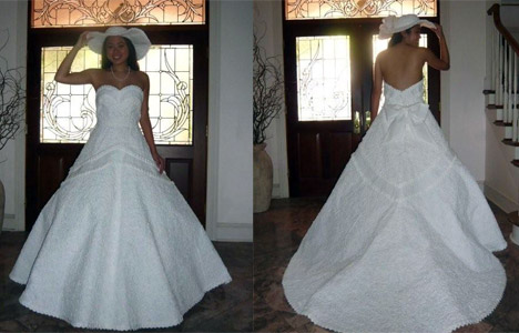 Inside Look into the Paper Wedding Dress Contest by Cheap Chic