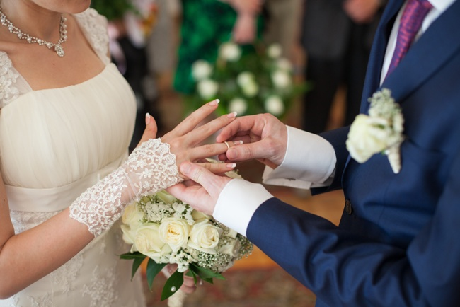 An intimate wedding ceremony followed by a bigger wedding reception party