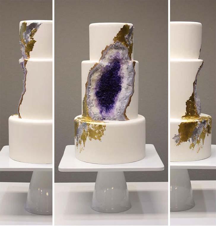 geode wedding cake 1