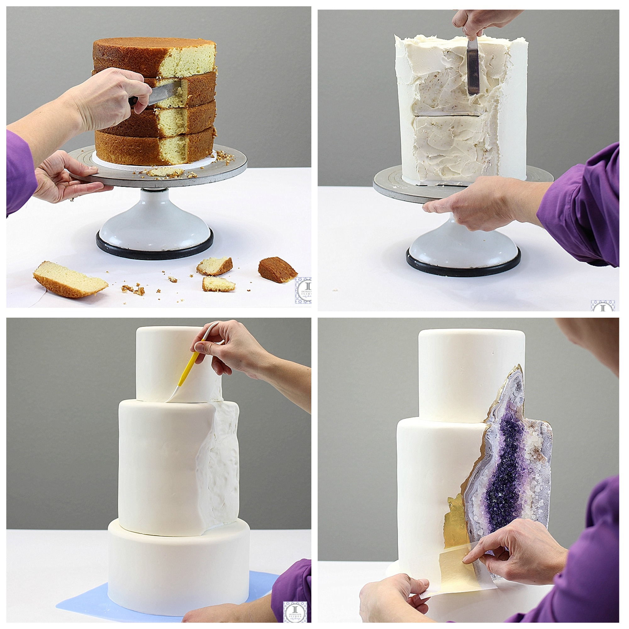 The new wedding cake mania – Geode Wedding Cakes! | Cornwall Wedding ...
