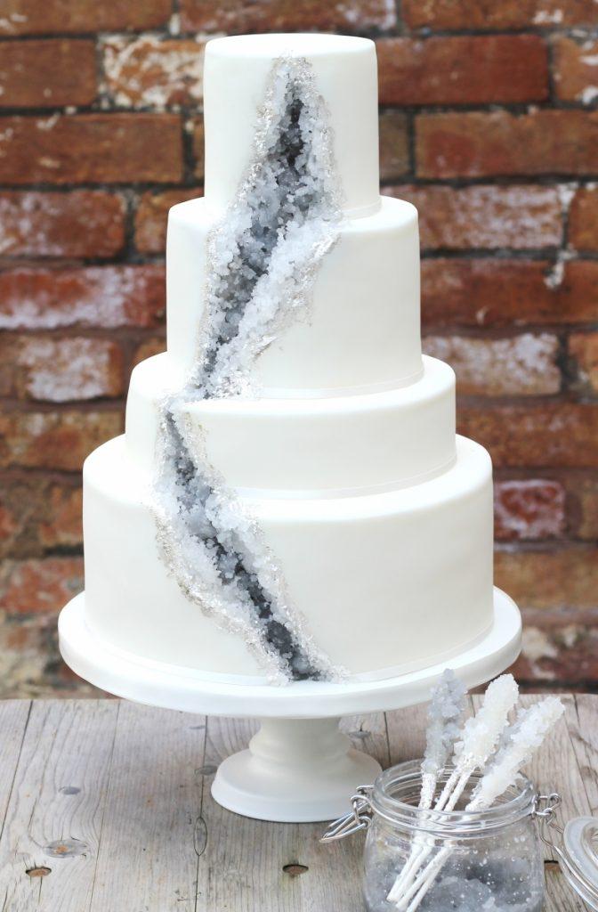 geode wedding cake 8