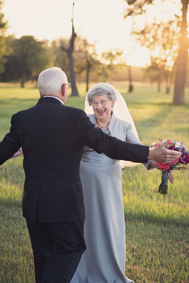 Getting your wedding photo shoot 70 years after tying the knot